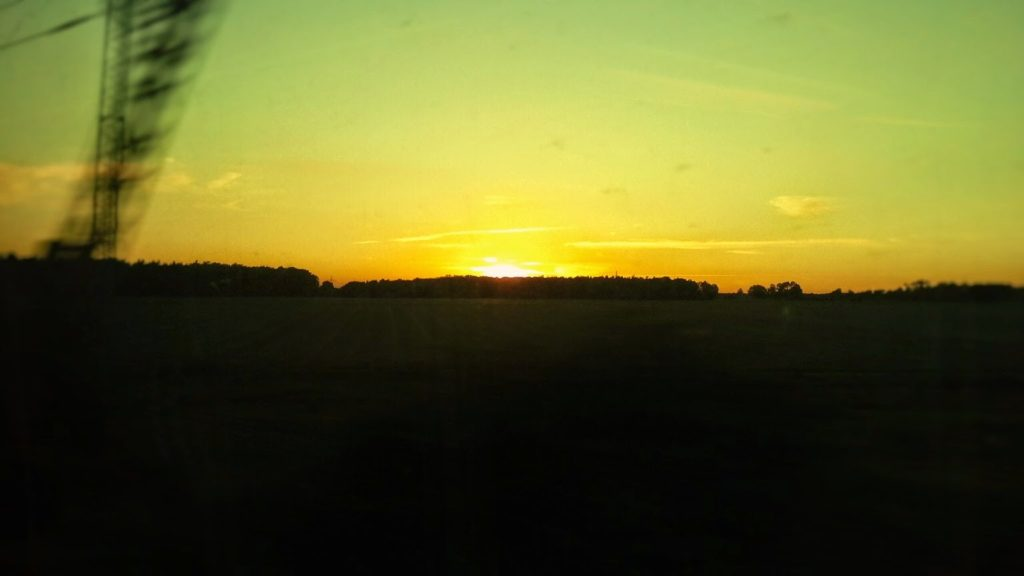 Tramonto verso Amburgo