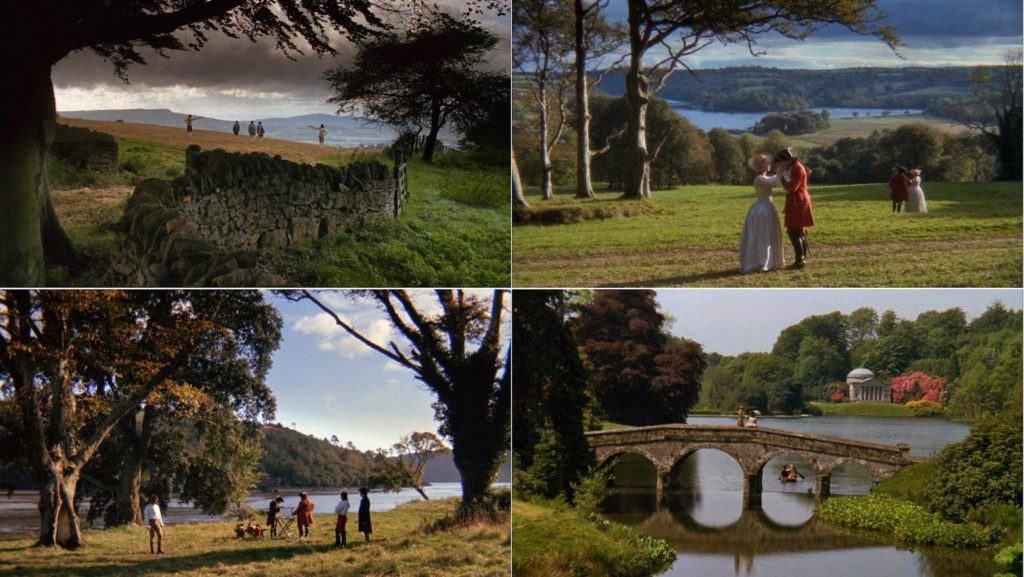 Location di Barry Lyndon in Irlanda, Inghilterra e Germania