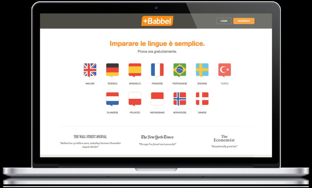Imparare le lingue con Babbel