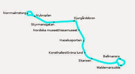 Viaggiare sul tram N7 a Stoccolma