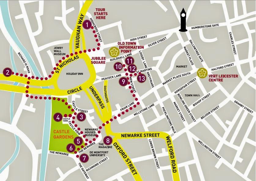 Itinerario Riccardo III a Leicester