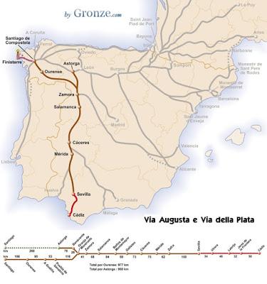 Itinerario Via della Plata Spagna