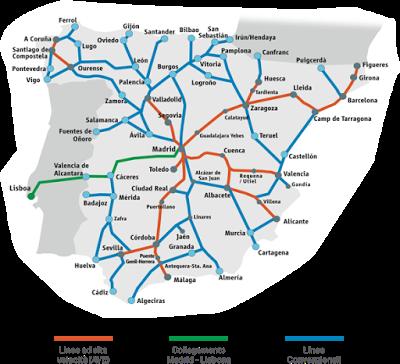 Rete ferroviaria Spagna