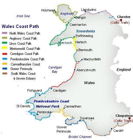 Mappa Welsh Coast Path