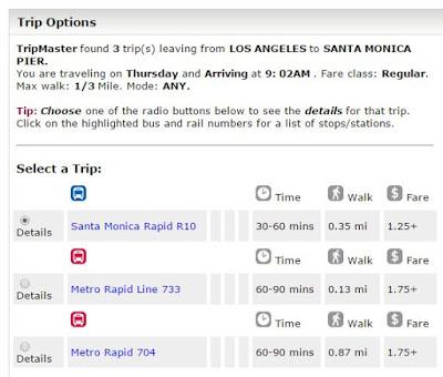 Linee di autobus per Santa Monica
