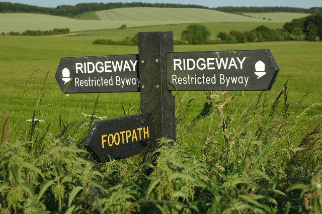 Percorrere il Ridgeway in Inghilterra